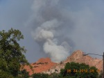 Waldo Canyon Fire Looking over Garden of the Gods City Park