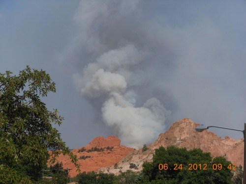 Waldo Canyon Fire Looking Over Garden Of The Gods City