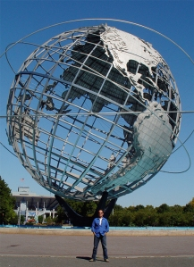 Lon Kirschner at The Flushing Meadows-Corona Park Unisphere (Courtesy of Lon Kirschner)