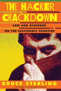 The Hacker Crackdown, by Bruce Sterling. First PC-generated Cover by Kirschner Caroff.