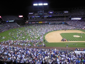 Loading up Coors Field for the Fireworks Display, July 3, 2014