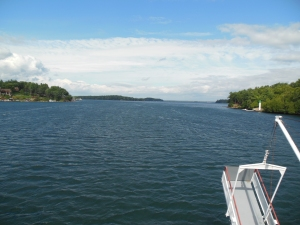 The Bow of the Tour Boat, St. Lawrence River (Aug 13, 2014)