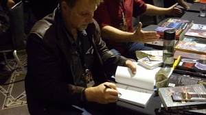 Aaron Michael Ritchey, MileHiCon46, Autographing Book, Oct 24, 2014. Totally Not Staged. Well, Maybe A Little.