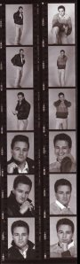 Leather and Sweater Frank Contact Sheet ©1988 (Michael Drejza, Photographer)