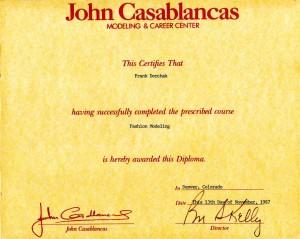 F. P. Dorchak Fashion Modeling Course Diploma (John