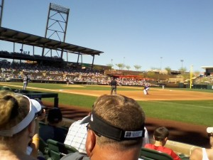 Rockies and the Brewers, Salt River Fields, Scottsdale, AZ, March 23, 2015