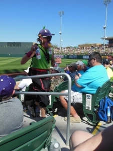 Weird Beer Guy, Rockies and the Brewers, Salt River Fields, Scottsdale, AZ, March 23, 2015