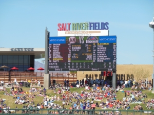 Top o' the Eighth, Three-Two, Rockies. Salt River Fields, March 25, 2015