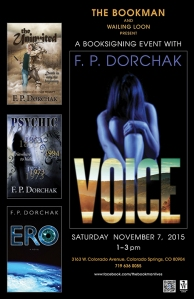 Voice Book Signing Nov 7 2015, 1 - 3 P.M.