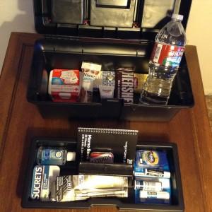 Interior of The Kattywampus Author Survival Kit™