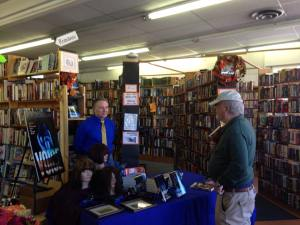 You Drew First Blood! First Customer! The Bookman Signing, Nov 7, 2015.