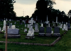 "Love Knows No Limits. (Image of ""Cemetery Row,"" Alexandria, VA, May 19, 1990, © F. P. Dorchak)"