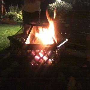 Dad's Fire Pit. (Photo © F. P. Dorchak, August 13, 2016)