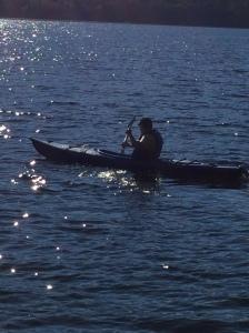 Early Morning Kayak. (Photo © F. P. Dorchak, August 19, 2016)