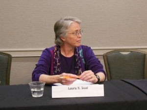 """Laura K. Deal, on the """"What Killed It For You?"""" MileHiCon48 Panel."""