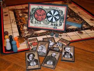 A Journey With Strange Bedfellows Board Game (© 2014 Jan CJ Jones)