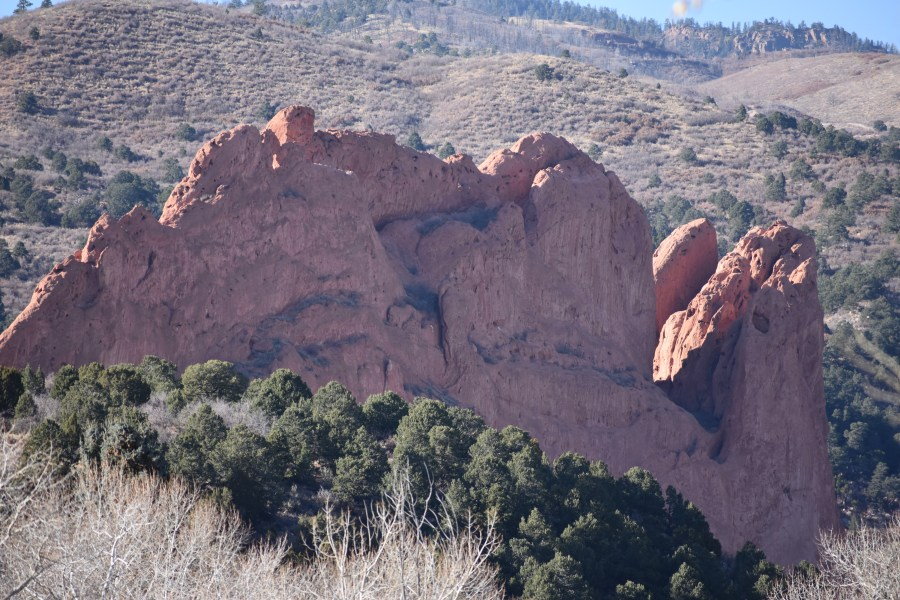 Garden of the Gods Kissing Camels Formation (© F. P. Dorchak, November 25, 2016)