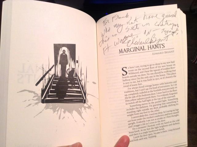 """Ed Bryant """"Marginal Ha'nts"""" Autograph (© F. P. Dorchak)"""