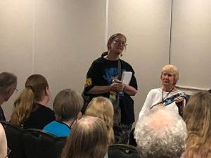 Rose Beetem, MileHiCon Programming Chair. (© F. P. Dorchak, Oct 21, 2018)