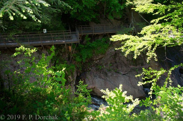 High Falls Gorge Walkway.