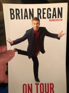 Pikes Peak Center Playbill, Brian Regan (My Image ©2020 F. P. Dorchak)