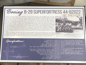 "B-29 ""Superfortress,"" ""Peachy,"" Weisbrod Aircraft Museum. (© February 15, 2020 F. P. Dorchak)"