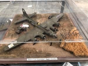"""Return From Schweinfurt"" Diorama, Weisbrod Aircraft Museum. (© February 15, 2020 F. P. Dorchak)"