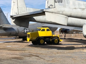 1963? Yellow Warehouse Tractor. Weisbrod Aircraft Museum (© February 15, 2020 F. P. Dorchak)