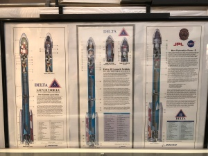 Delta II Launch Vehicle Placards, Weisbrod Aircraft Museum (© February 15, 2020 F. P. Dorchak)