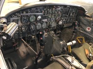 T-37 Cockpit, Weisbrod Aircraft Museum (© February 15, 2020 F. P. Dorchak)