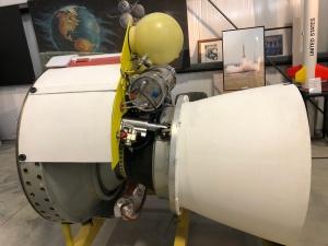 """GEM"" 46 Delta II Rocket Nozzle, Weisbrod Aircraft Museum (© February 15, 2020 F. P. Dorchak)"