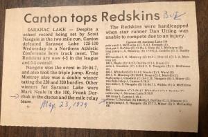 1979 Saranac Lake, NY Track Meet (Image © 2020 F. P. Dorchak)