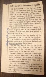 1979 St. Lawrence, NY Track Meet (Image © 2020 F. P. Dorchak)