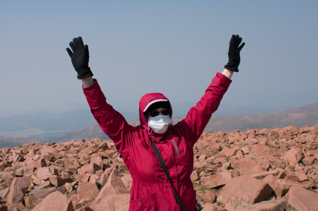 Top A Da World, Ma! Pikes Peak Summit (© 2020 F. P. Dorchak)