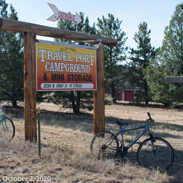"Lake George ""Bike Fence,"" Travel Port Campground (© F. P. Dorchak 2020)"