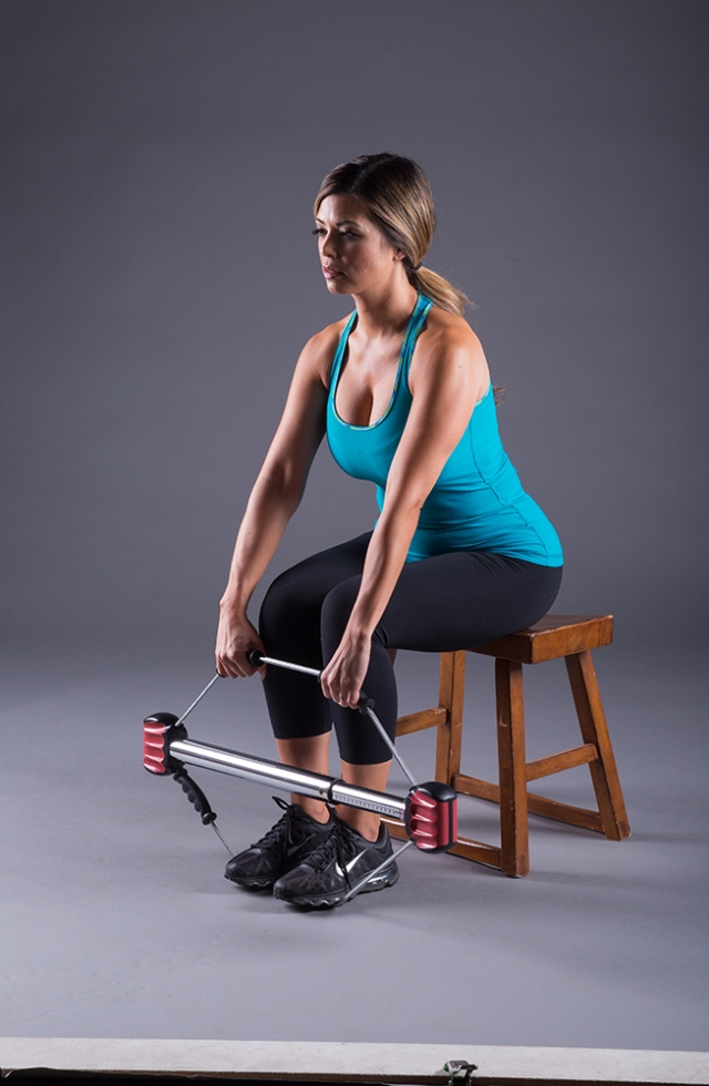 Seated Dead Lift (© 2018 Bullworker. Used with Permission from Bullworker)